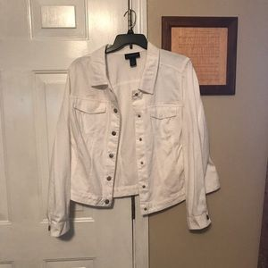 Lane Bryant size 22W white denim jacket